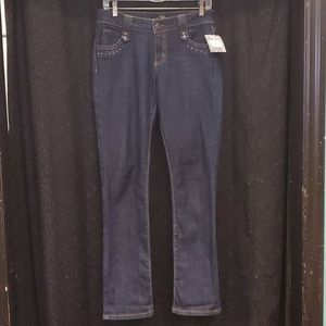 South Pole Blue Flare Studded Pocket Jeans